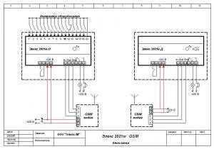 Элекс 2021М GSM схема подключения.