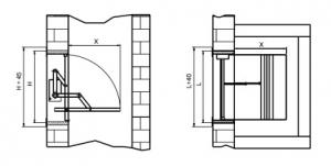 Монтажная схема клапана дымоудаления КЛАРУС-2.