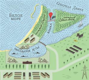 северодвинск карта рыбалка